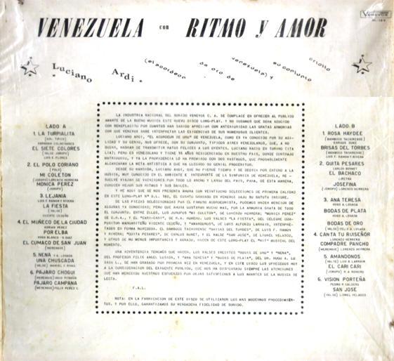Luciano Ardi Y Su Conjunto - Caracas Con Amor