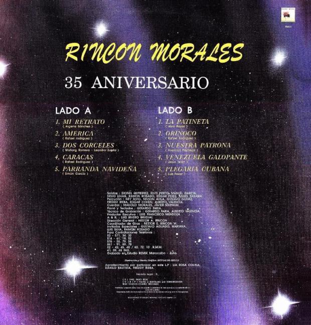 Rincon Morales 35 aniversario trasera
