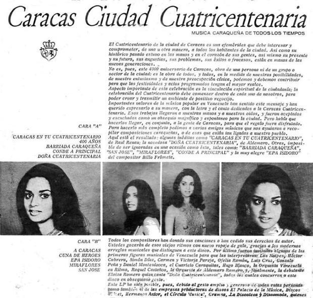 Caracas Ciudad Cuatricentenariat ver