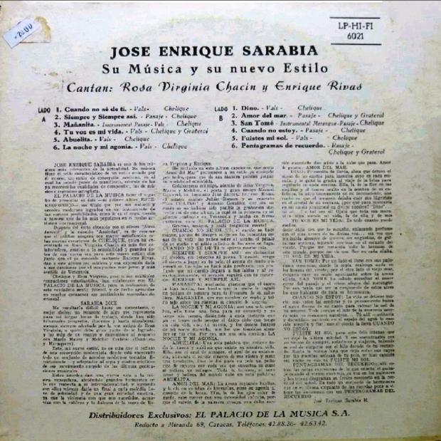 José Enrique Sarabia Su Música y su nuevo Estilo 2