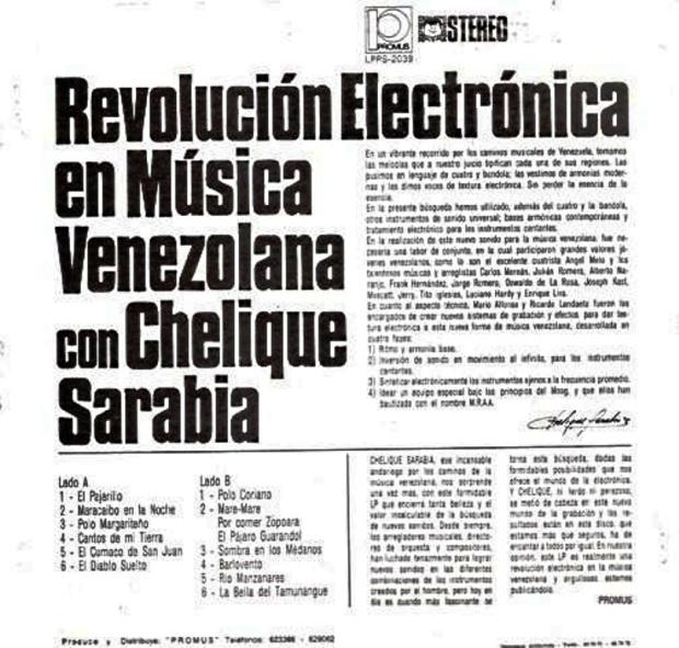 Revolucion Electrónica en Musica Venezolana -trasera