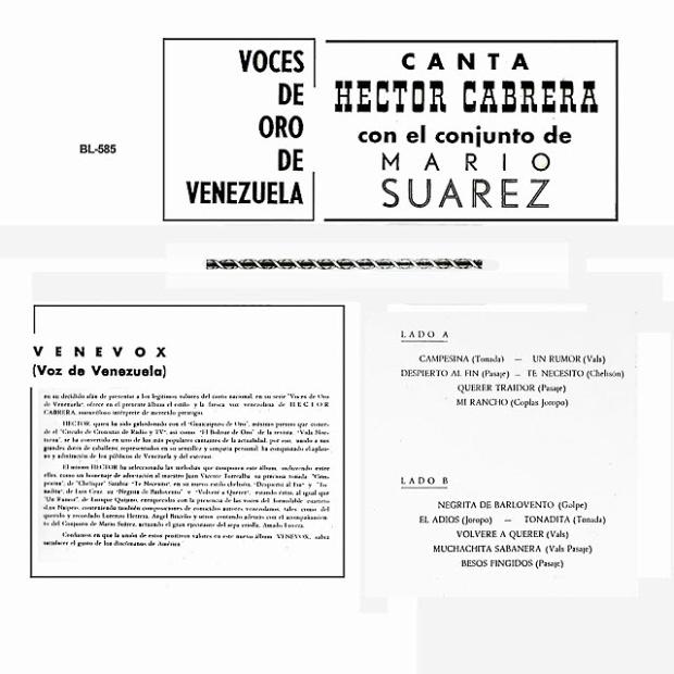 Hector Cabrera - Voces De Oro De Venezuela t