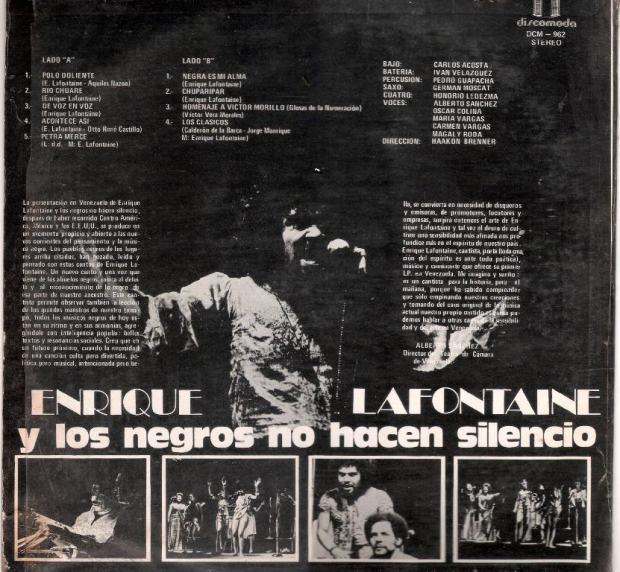 Lafontaine '76 - Y Los Negros No Hacen Silenciot