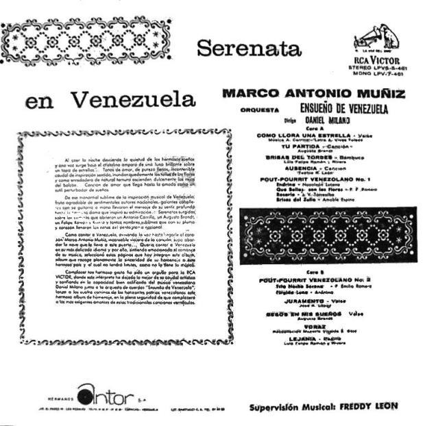 Serenata en Venezuela Trasera