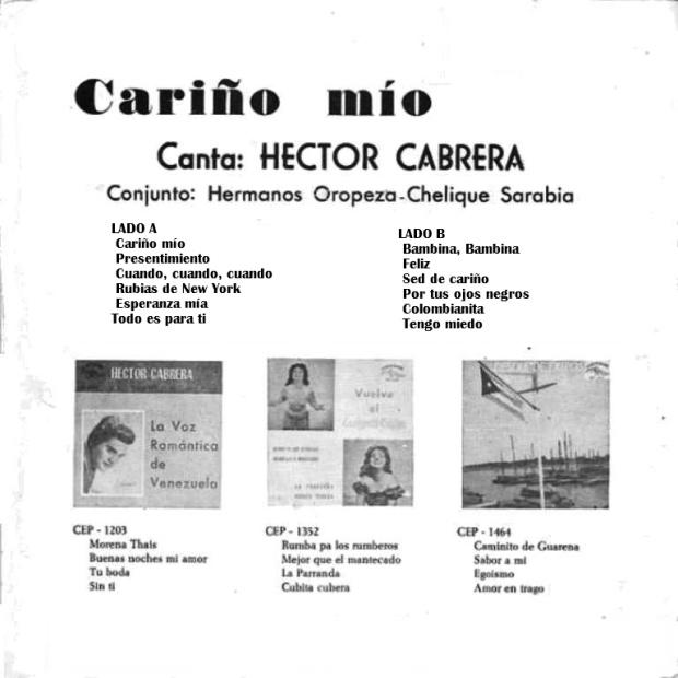 Héctor Cabrera - Cariño mío (1962) TRASERA
