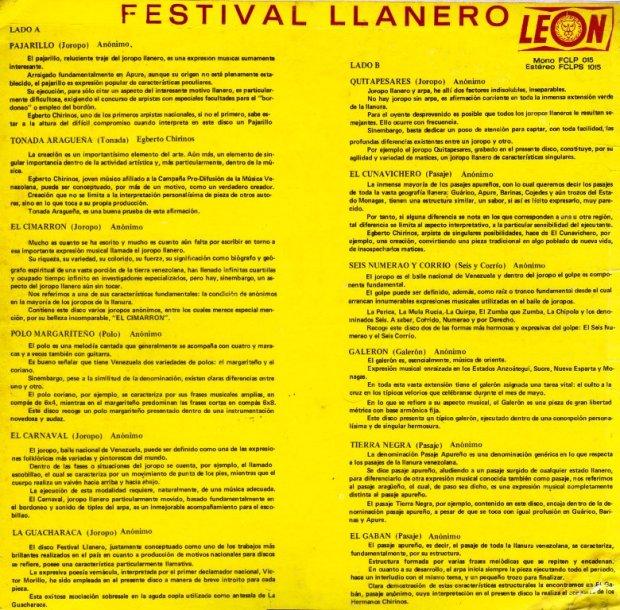 Festival Llanero Trasera