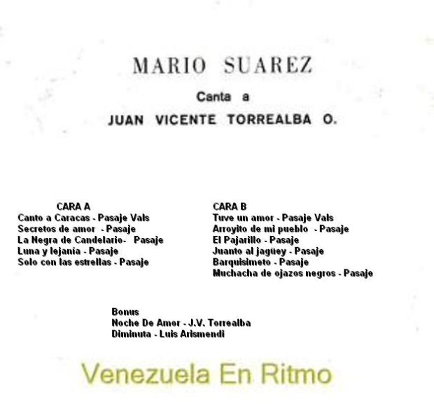 trasera Canta a Juan Vicente Torrealba