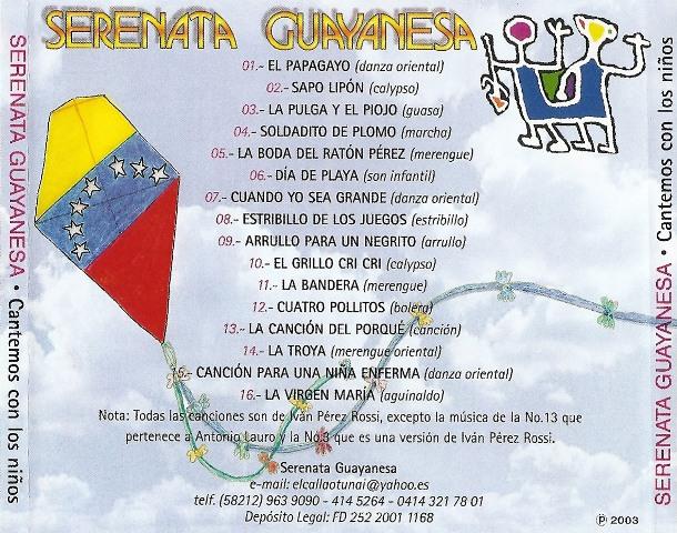 Serenata Guayanesa - 20 Años, 20 canciones infantiles - 1991 (2/2)